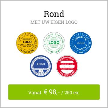 keuringsstickers rond met logo