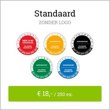 keuringsstickers standaard zonder logo